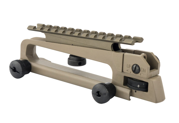 AR-15 Carry Handle with A2 Rear Sight and Optics Rail Mount