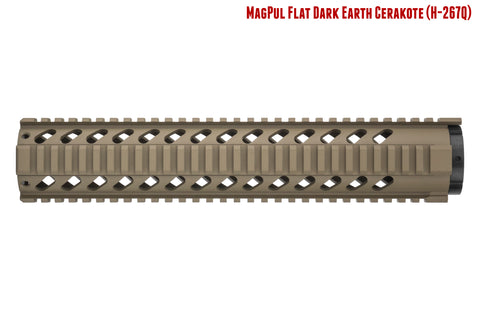 AR-15 Quad Rail Handguard - 12 inch | Free Float | Flat Dark Earth
