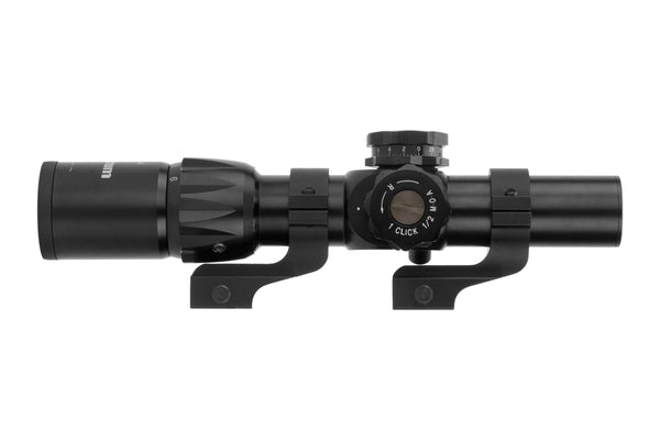 1-6x24 First Focal Plane Rifle Scope - Range Finder Reticle - Offset Scope Rings