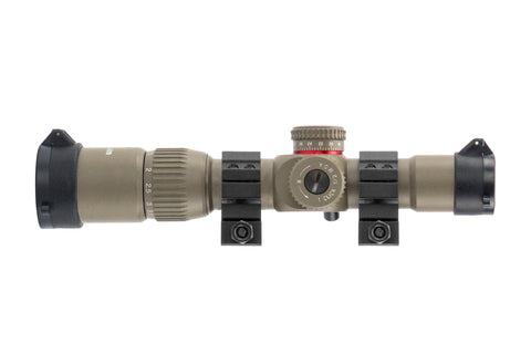 G2 1-4x24 First Focal Plane (FFP) Rifle Scope with Illuminated Rangefinder Reticle - Flat Dark Earth