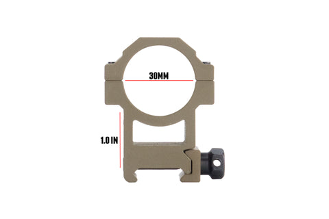 products/MONSTRUM-TACTICAL-FLAT-DARK-EARTH-TAN-FDE-1IN-1-INCH-ONE-RIFLE-SCOPE-RINGS-RING-F2.jpg