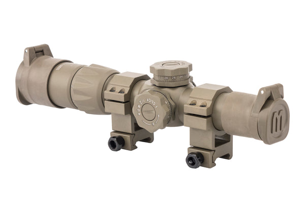 Monstrum Tactical Flip-Up Rifle Scope Lens Covers - Flat Dark Earth