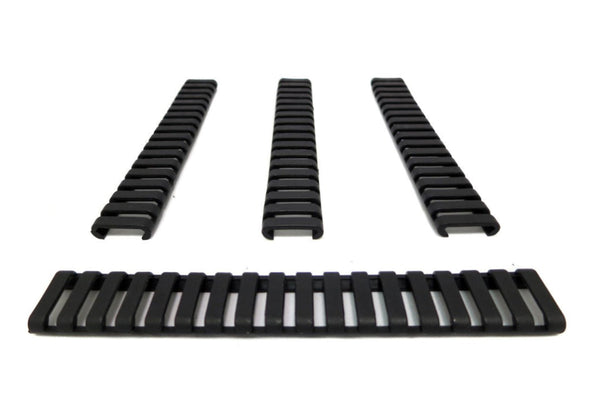 MONSTRUM TACTICAL PICATINNY LADDER RAIL COVER CARBINE LENGTH 7 IN BLACK