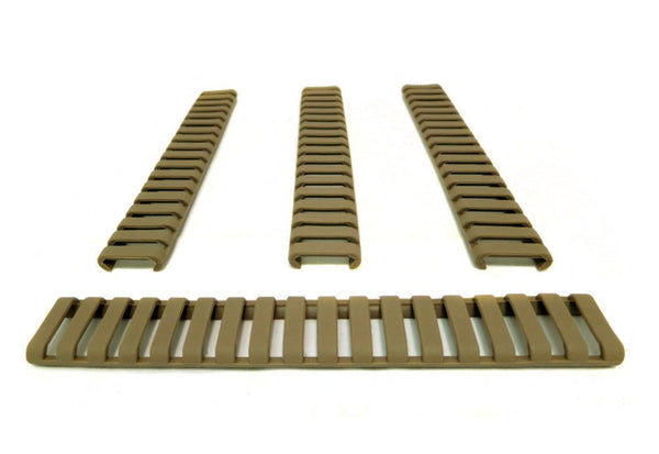 MONSTRUM TACTICAL PICATINNY LADDER RAIL COVER CARBINE LENGTH 7 IN FLAT DARK EARTH FDE TAN
