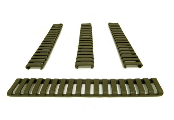 MONSTRUM TACTICAL PICATINNY LADDER RAIL COVER CARBINE LENGTH 7 IN OLIVE DRAB GREEN ODG