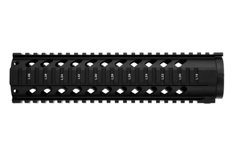 AR-15 Quad Rail Handguard - 10 inch | Free Float | Black