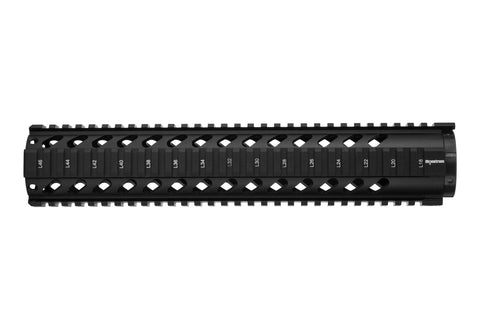 AR-15 Quad Rail Handguard - 12 inch | Free Float | Black