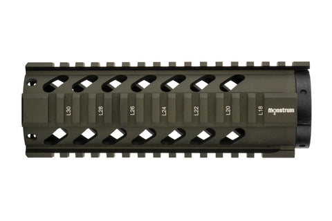 AR-15 Quad Rail Handguard - 7 inch | Free Float | Olive Drab Green