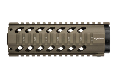 AR-15 Quad Rail Handguard - 7 inch | Free Float | Tan