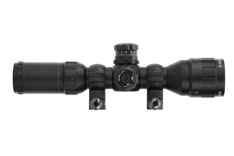 3-9x32 Rifle Scope - Adjustable Objective Lens and Range Finder Reticle
