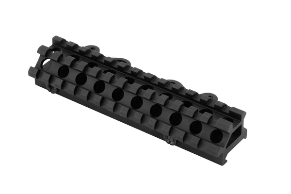 Dual Rail 45/90 Degree Picatinny Scope Riser Mount with Quick Release