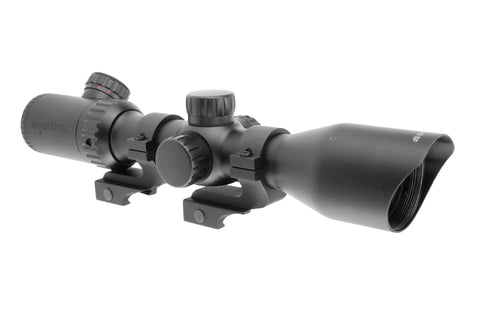3-12x42 Tactical Rifle Scope - Adjustable Objective Lens and Mil-Dot Reticle