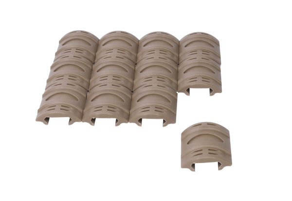 Picatinny Rail Covers - 2 inch  12 Piece Set  Flat Dark Earth FDE Tan - Accessories - Monstrum Tactical