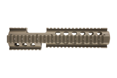 AR-15 Extended Quad Rail Handguard with FSP Cutout | Drop In | Flat Dark Earth