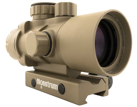 S232P 2x32 Compact Prism Scope - Flat Dark Earth - Rifle Scopes - Monstrum Tactical - 1