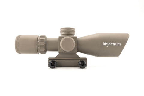 3-9x40 Tactical Rifle Scope - Mil-Dot Reticle, Flat Dark Earth - Rifle Scopes - Monstrum Tactical - 1