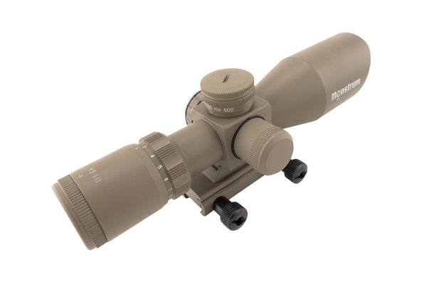 3-9x40 Tactical Rifle Scope - Range Finder Reticle - FDE - Rifle Scopes - Monstrum Tactical - 4
