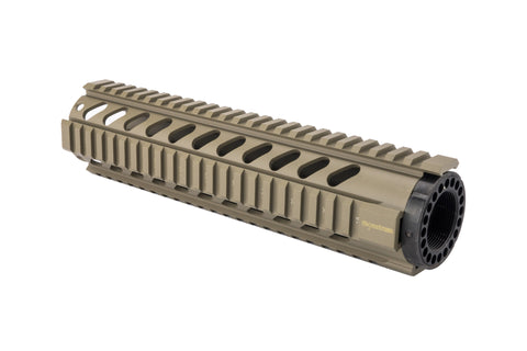 AR-15 Quad Rail Handguard - 10 inch | Free Float | Flat Dark Earth - Quad Rails - Monstrum Tactical - 1