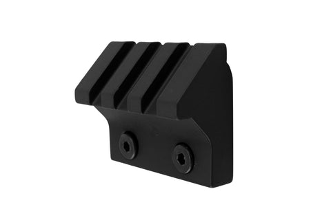 45 Degree Offset Picatinny Rail Section for Keymod | 3 Slot/1.5 inch | Black - Accessories - Monstrum Tactical - 1