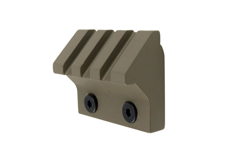 45 Degree Offset Picatinny Rail Section for Keymod | 3 Slot/1.5 inch | FDE - Accessories - Monstrum Tactical - 1