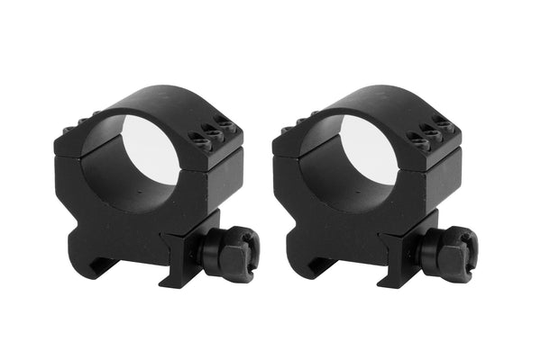 1 inch Lockdown Series High Performance Scope Rings | Picatinny Mount | Medium Profile - Accessories - Monstrum Tactical - 1