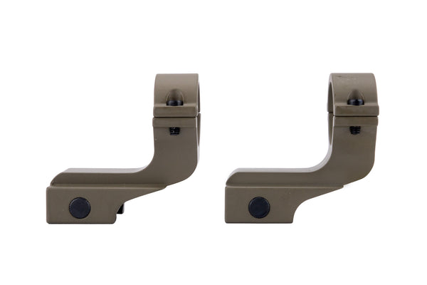 Offset Reversible 1 inch Diameter Rifle Scope Rings | Flat Dark Earth - Accessories - Monstrum Tactical - 1