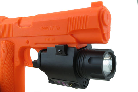 20R Lightweight Aluminum Combination Flashlight/Red Laser Sight with Rail Mount - Optics - Monstrum Tactical - 1