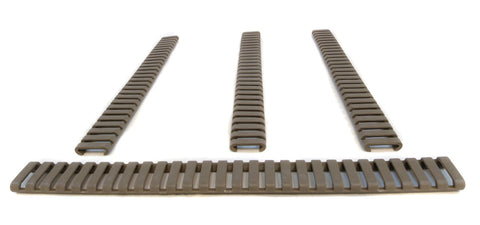 Picatinny Ladder Rail Covers - 11 inch | 4 Pack | Flat Dark Earth - Accessories - Monstrum Tactical - 1