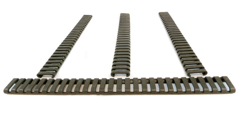 Picatinny Ladder Rail Covers - 11 inch | 4 Pack | Olive Drab Green - Accessories - Monstrum Tactical - 1