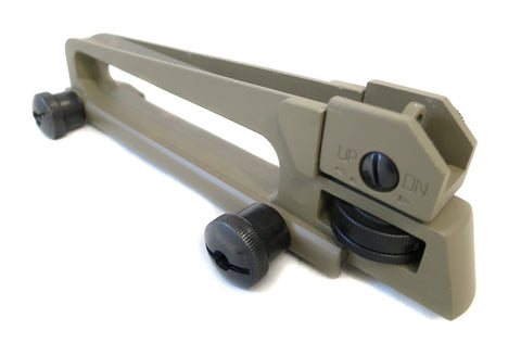 AR-15 Carry Handle with A2 Rear Sight - Flat Dark Earth - Accessories - Monstrum Tactical - 1