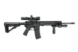 AR-15 Keymod Rail Handguard - 10 inch | Free Float | Black - Quad Rails - Monstrum Tactical - 4
