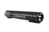 AR-15 Keymod Rail Handguard - 12 inch | Free Float | Black - Quad Rails - Monstrum Tactical - 3