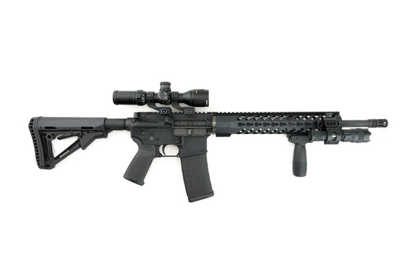 AR-15 Keymod Rail Handguard - 12 inch | Free Float | Black - Quad Rails - Monstrum Tactical - 4