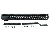 AR-15 Keymod Rail Handguard - 16.5 inch | Free Float | Black - Quad Rails - Monstrum Tactical - 1