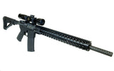 AR-15 Keymod Rail Handguard - 16.5 inch | Free Float | Black - Quad Rails - Monstrum Tactical - 5