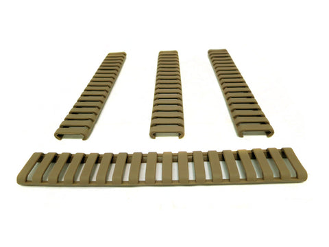 Picatinny Ladder Rail Covers - 7 inch | 4 Pack | Flat Dark Earth - Accessories - Monstrum Tactical - 1