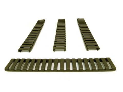 Picatinny Ladder Rail Covers - 7 inch | 4 Pack | Olive Drab Green - Accessories - Monstrum Tactical - 1
