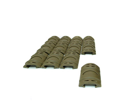 Picatinny Rail Covers - 2 inch | 12 Piece Set | Flat Dark Earth - Accessories - Monstrum Tactical - 1