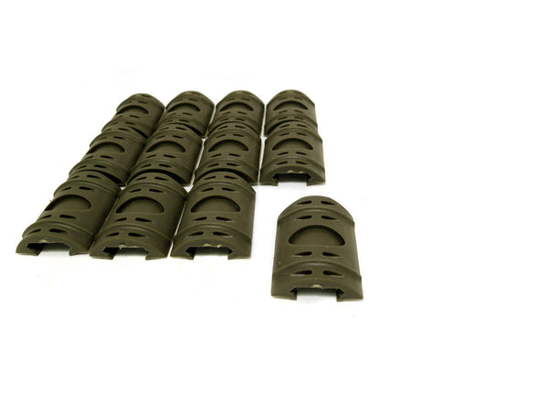 Picatinny Rail Covers - 2 inch | 12 Piece Set | Olive Drab Green - Accessories - Monstrum Tactical - 1