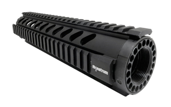 AR-15 Quad Rail Handguard - 10 inch | Free Float | Black - Quad Rails - Monstrum Tactical - 1