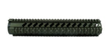 AR-15 Quad Rail Handguard - 12 inch | Free Float | Olive Drab Green - Quad Rails - Monstrum Tactical - 2