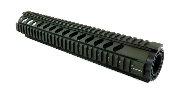 AR-15 Quad Rail Handguard - 12 inch | Free Float | Olive Drab Green - Quad Rails - Monstrum Tactical - 1