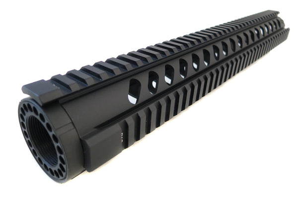 AR-15 Quad Rail Handguard - 15 inch | Free Float | Black - Quad Rails - Monstrum Tactical - 1