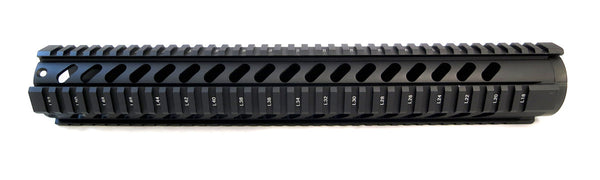AR-15 Quad Rail Handguard - 15 inch | Free Float | Black - Quad Rails - Monstrum Tactical - 2