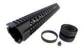AR-15 Quad Rail Handguard - 15 inch | Free Float | Black - Quad Rails - Monstrum Tactical - 3