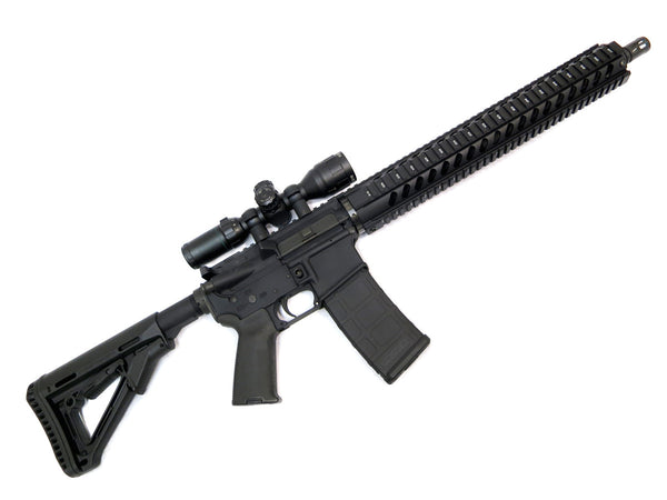 AR-15 Quad Rail Handguard - 15 inch | Free Float | Black - Quad Rails - Monstrum Tactical - 4