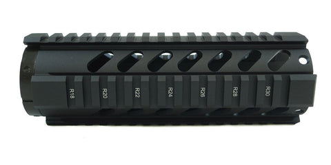 AR-15 Quad Rail Handguard - 7 inch | Free Float | Black - Quad Rails - Monstrum Tactical - 1