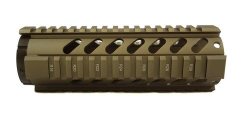 AR-15 Quad Rail Handguard - 7 inch | Free Float | Tan - Quad Rails - Monstrum Tactical - 1