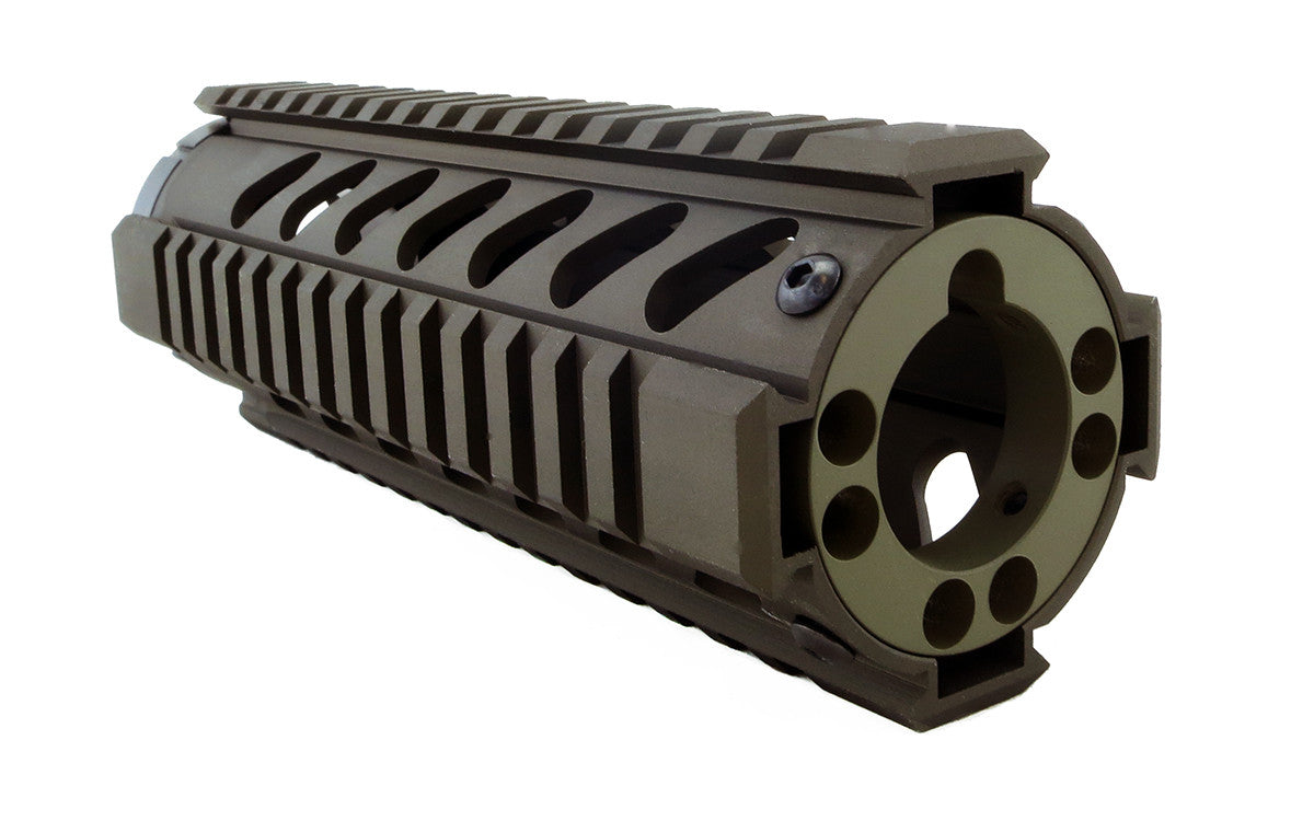 End Cap For Ar 15 Free Float Quad Rails Keymod Green