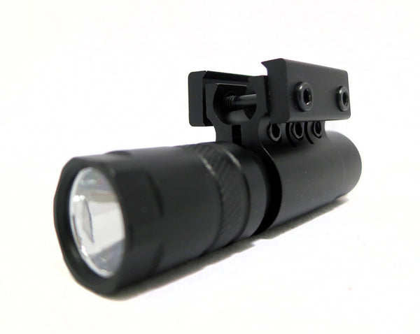 90 Lumens LED Flashlight with Rail Mount and Detachable Remote Pressure Switch - Optics - Monstrum Tactical - 1